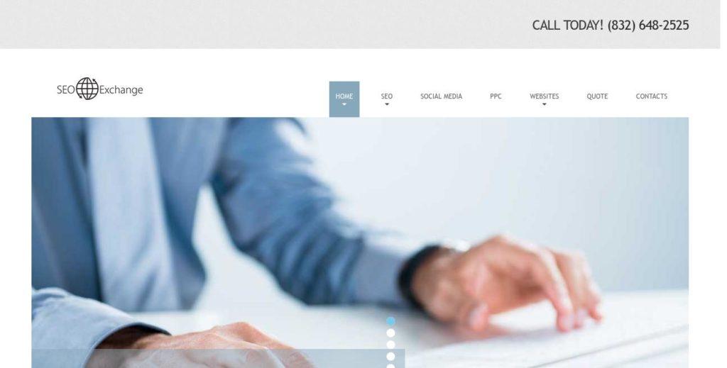 Homepage of SEO-Exchange https://www.seo-exchange.com/