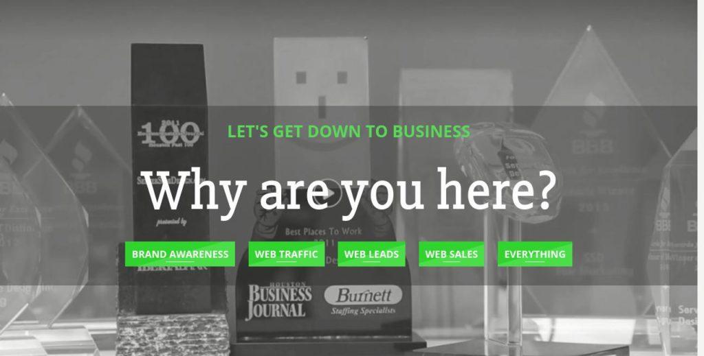Homepage of SEO Houston