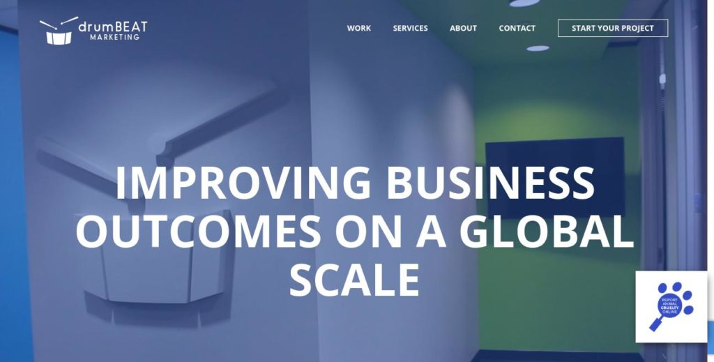 Homepage of drumBEAT Marketing https://www.drumbeatmarketing.net/