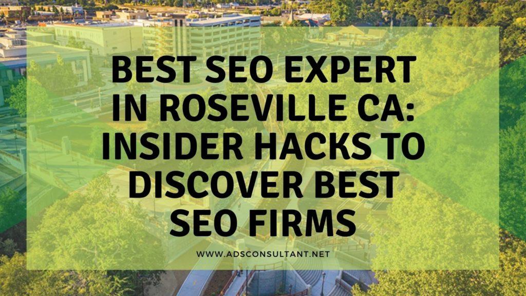 Best SEO Expert In Roseville CA