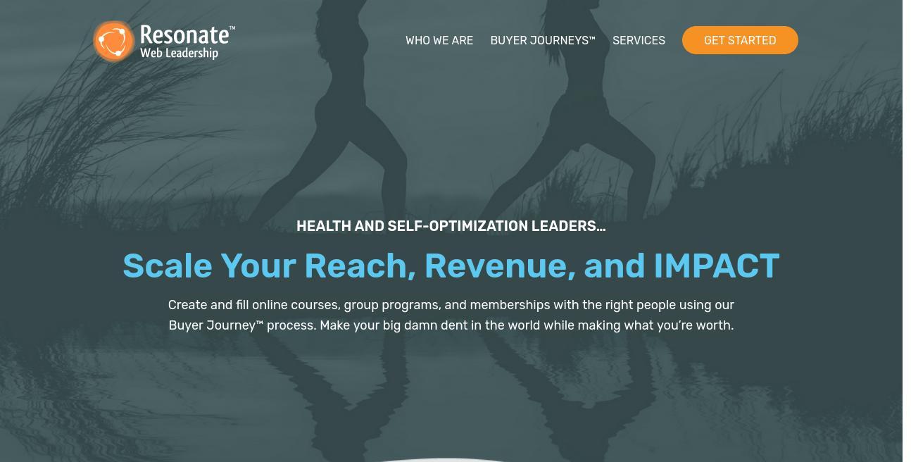 Resonate Branding + Web Design website
