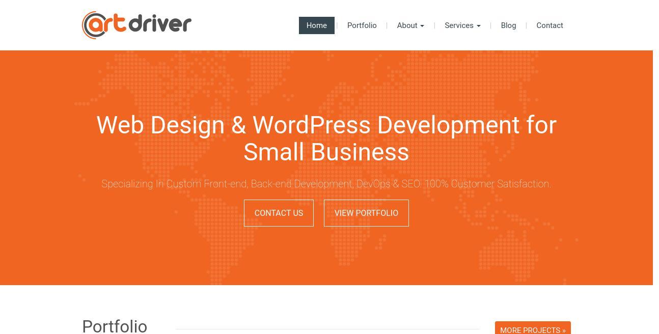 ArtDriver Web Design & SEO website