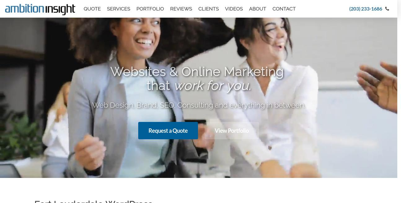Ambition Insight website. Best SEO Expert in Fort Lauderdale