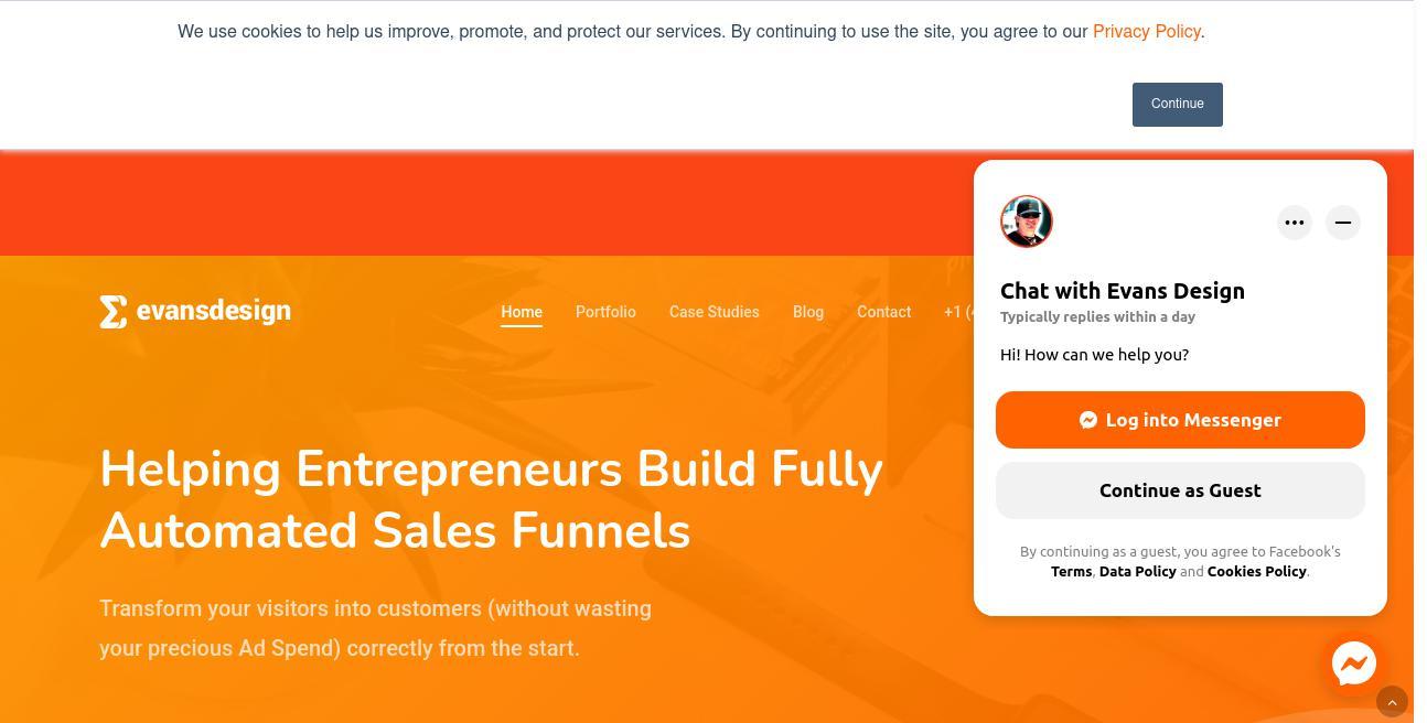 Evans Design website