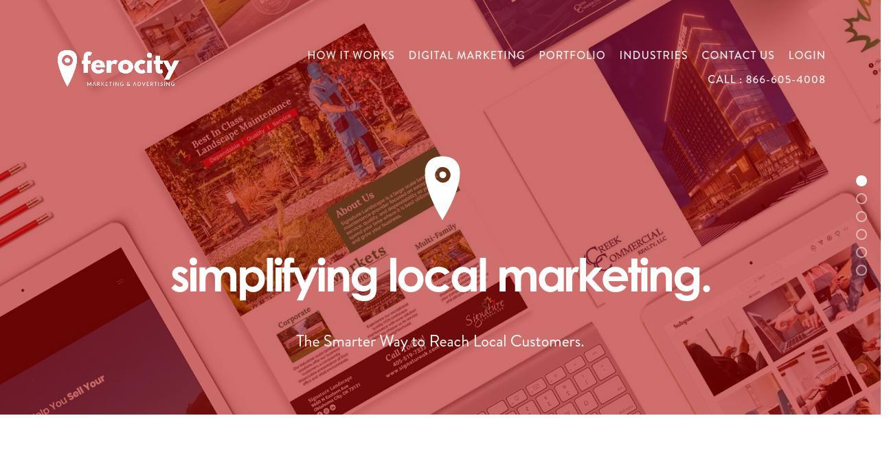 ferocity Marketing & Advertising website