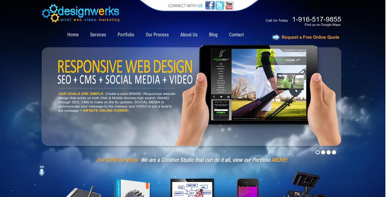 Designwerks Media website