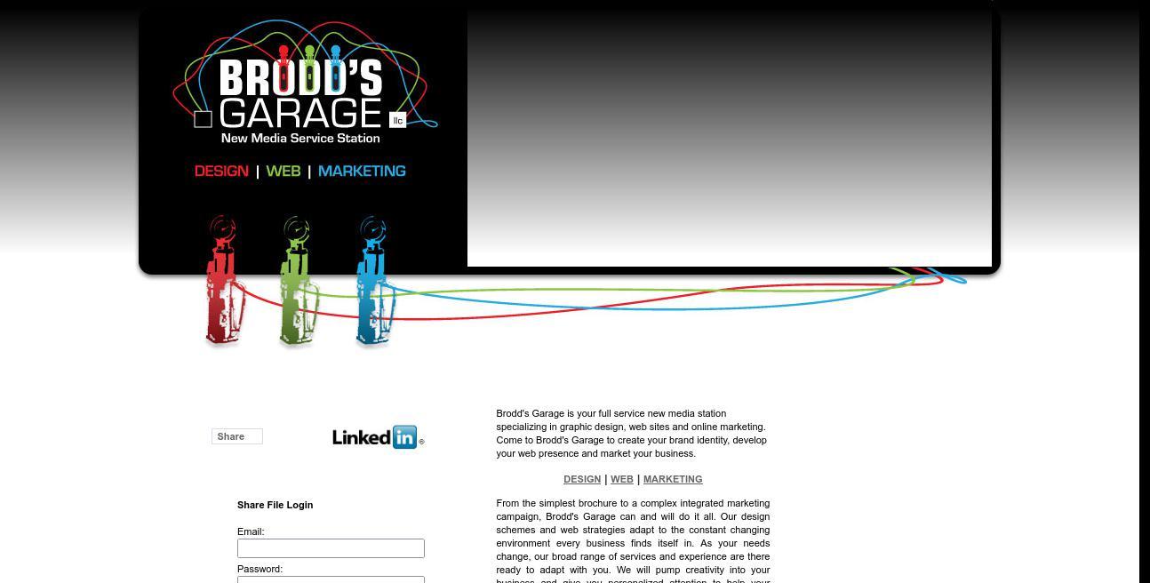 Brodd's Garage website
