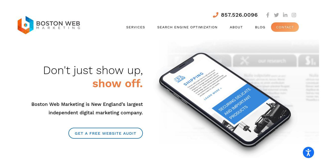 Boston Web Marketing website