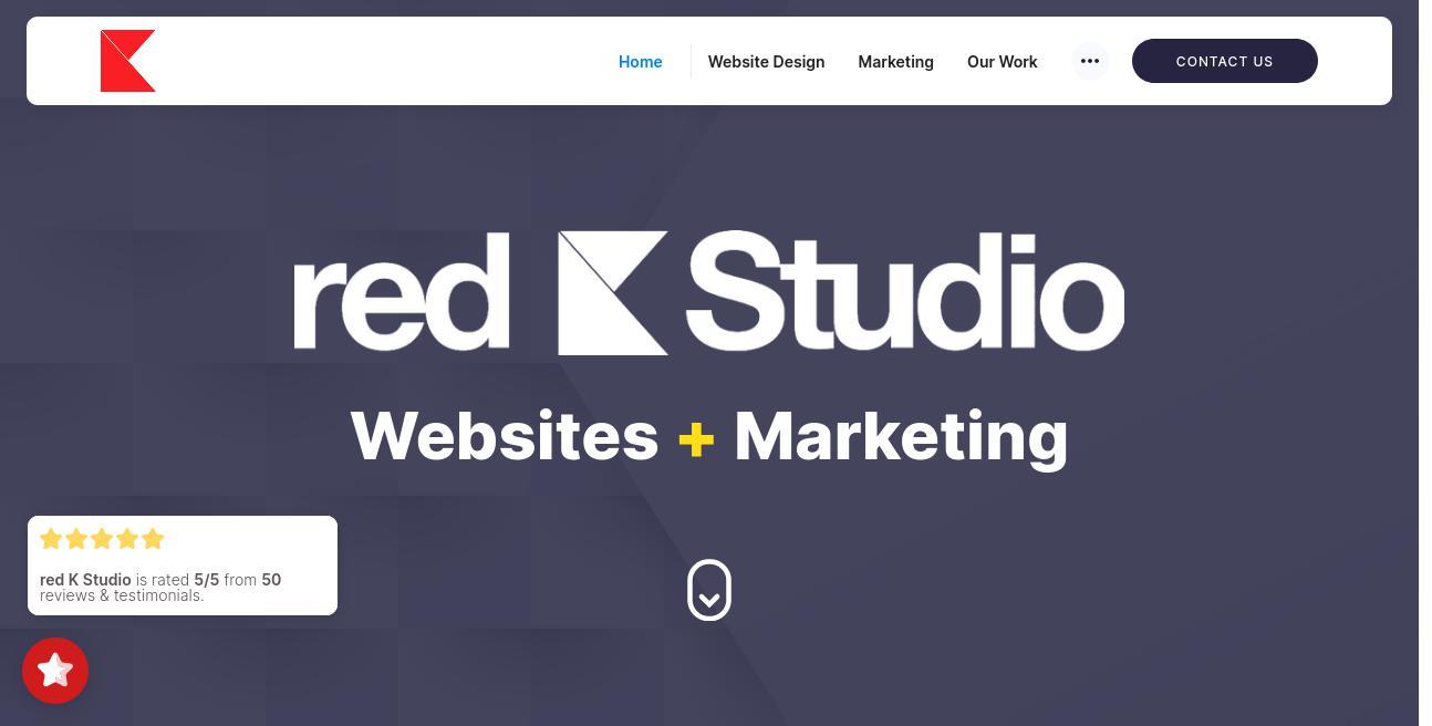 red k Studio website