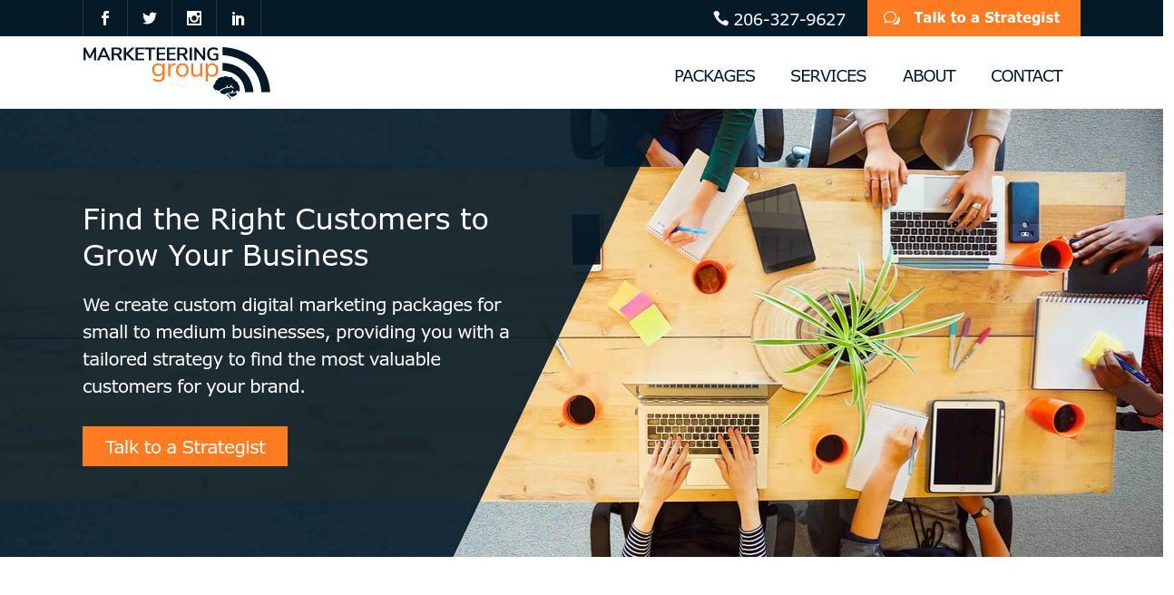 Marketeering Group website