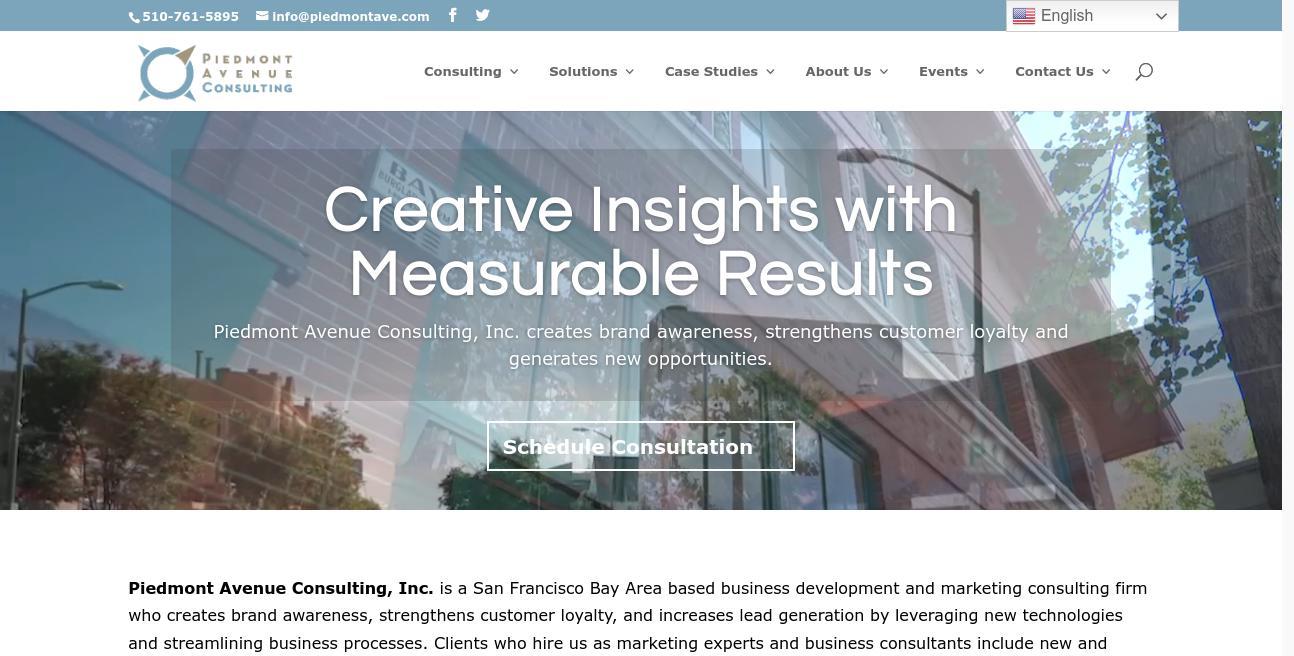 Piedmont Avenue Consulting website