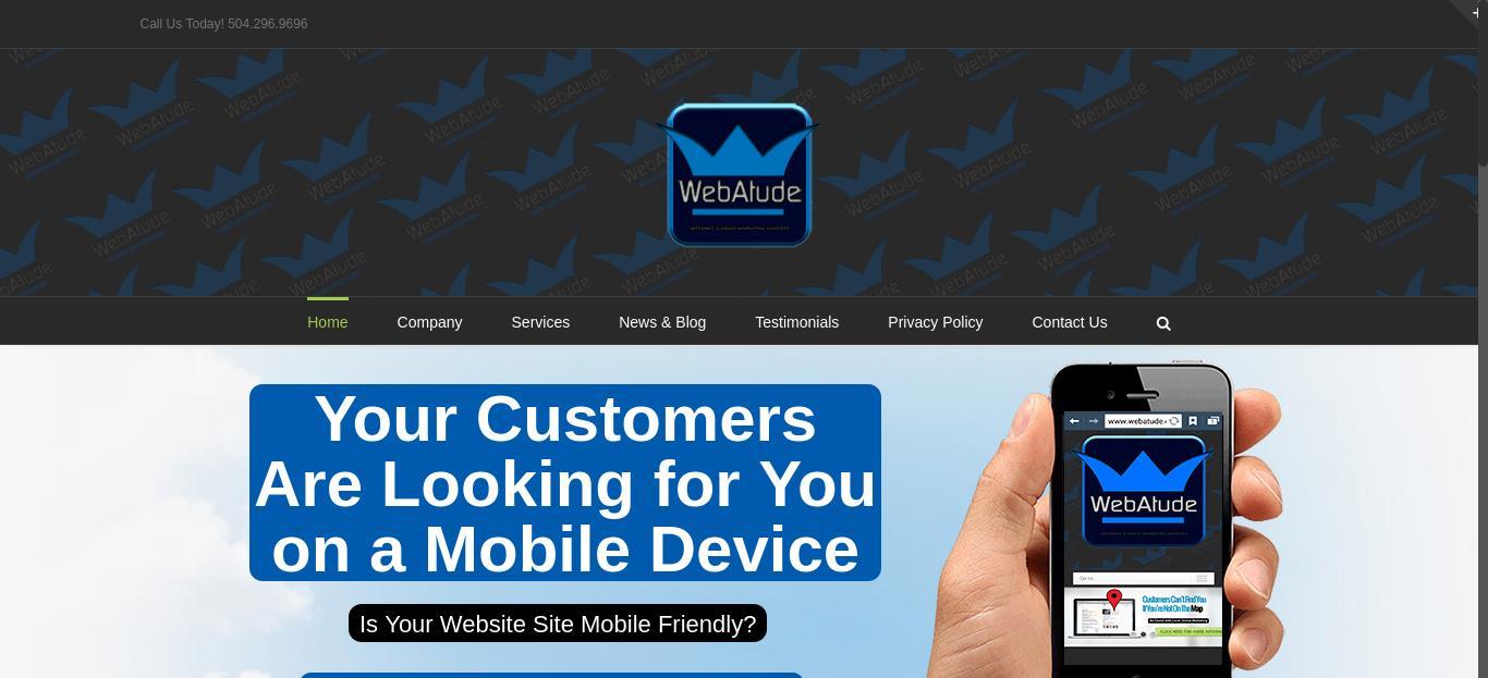 WebAtude Marketing website
