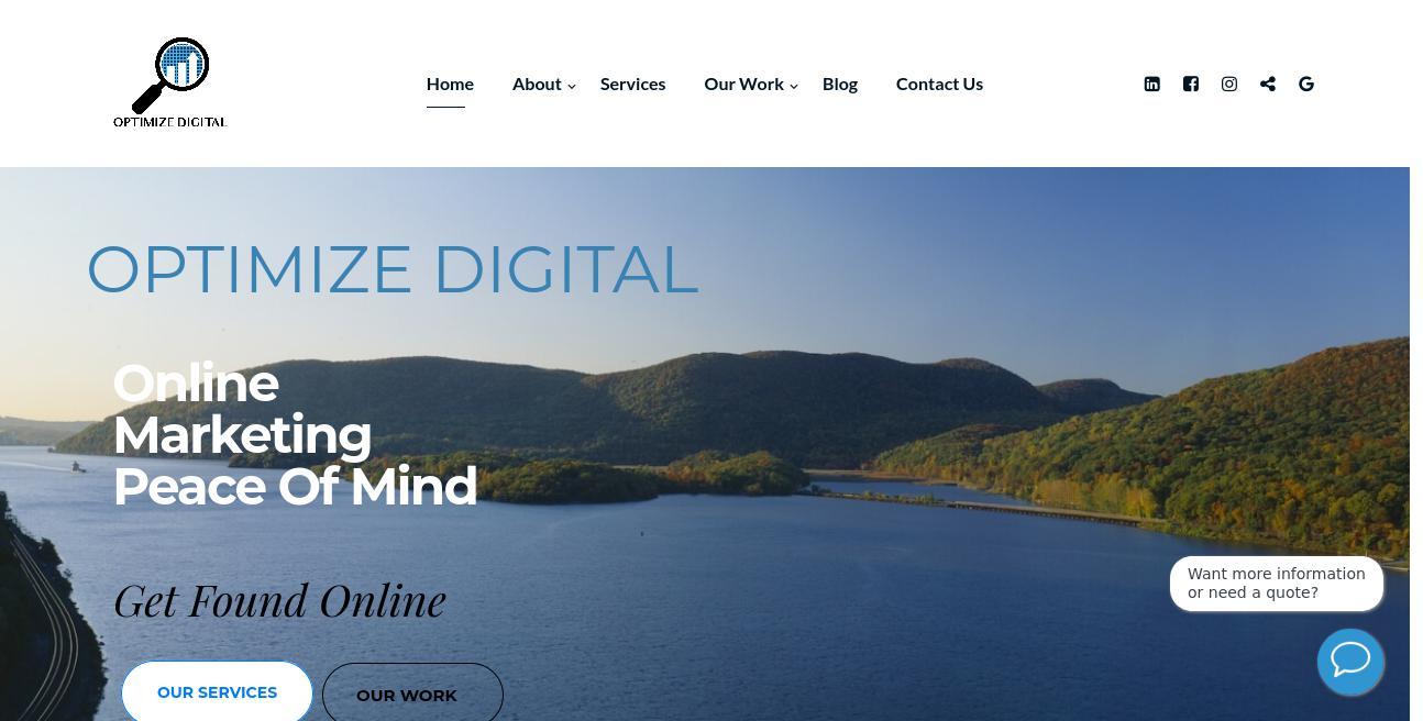 Optimize Digital website