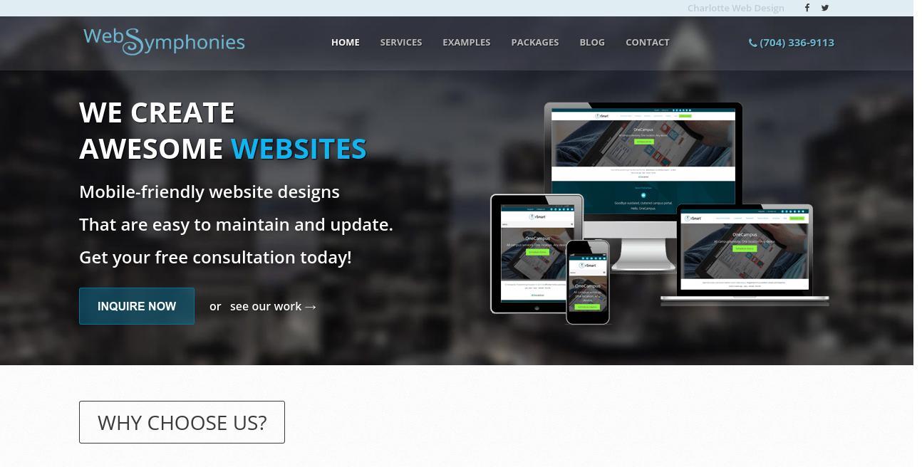 Web Symphonies website