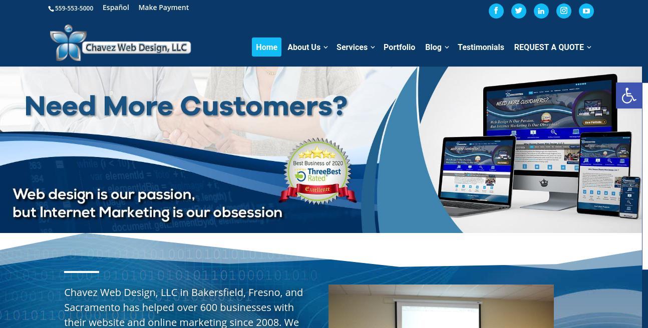 Chavez Web Design website