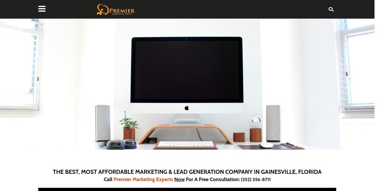 Premier Marketing Experts website