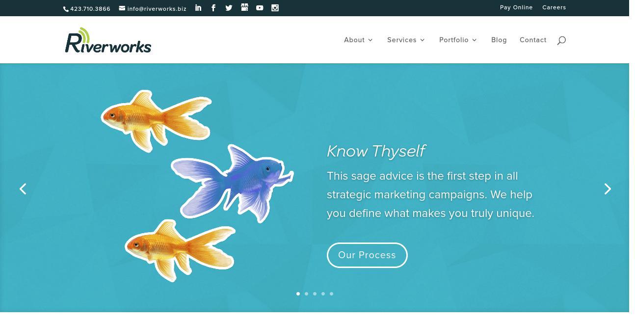 Riverworks Marketing Group website