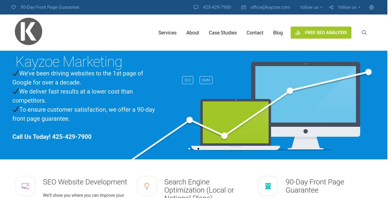 Kayzoe Marketing website