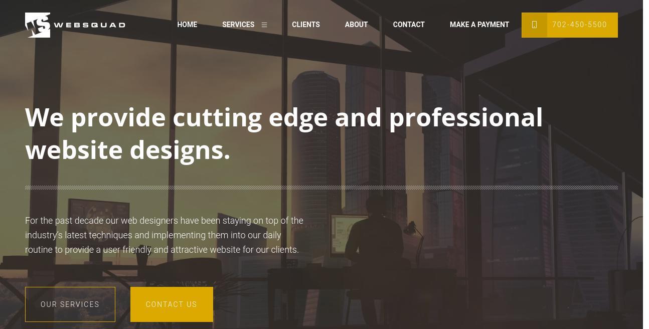 The Web Squad website
