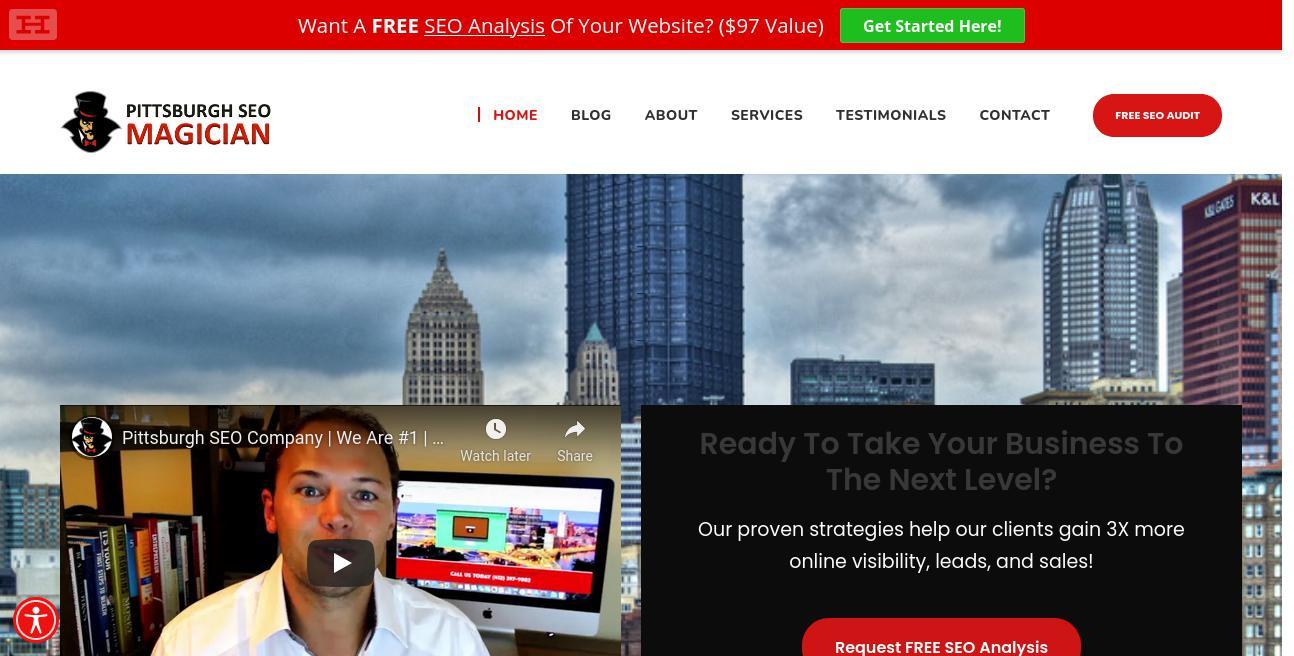 Pittsburgh SEO Magician website