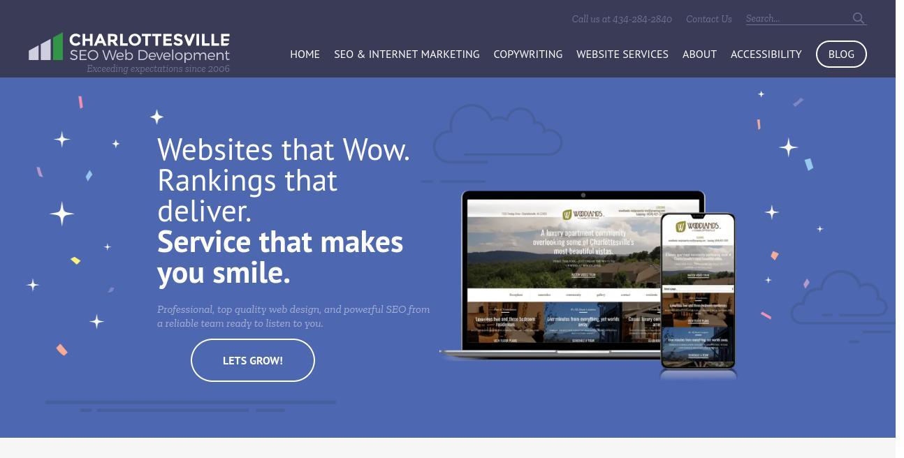 Charlottesville SEO Web Development website