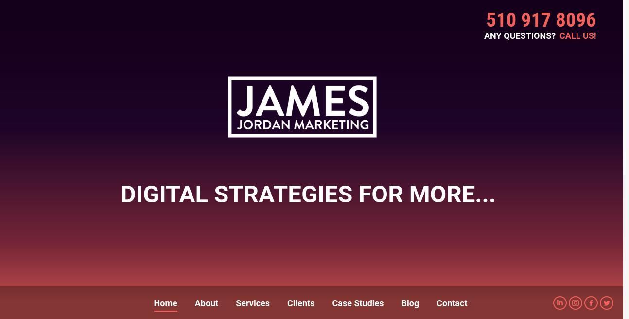 James Jordan Marketing website