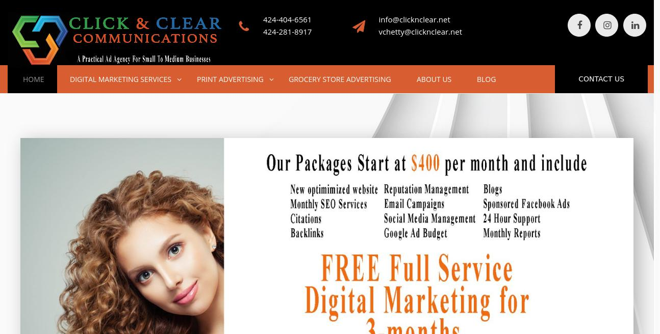 Click & Clear Communications website