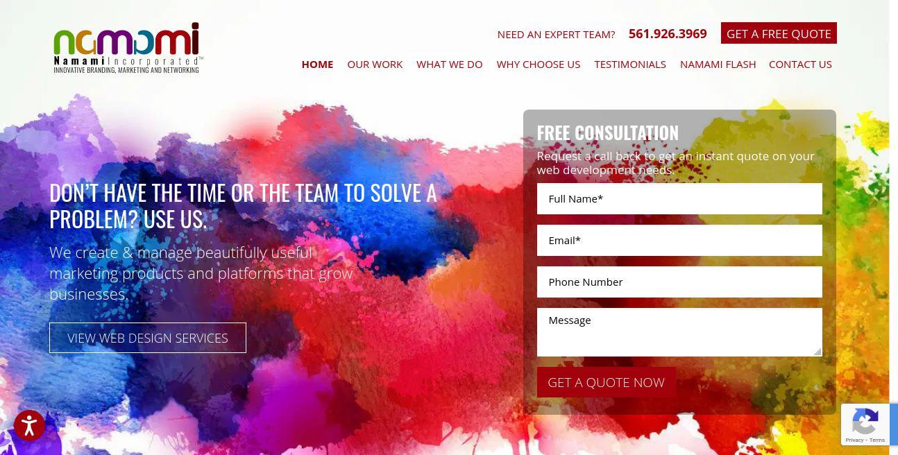 Namami website