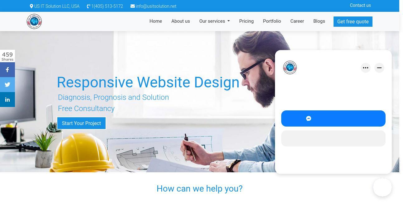 US IT Solution LLC website