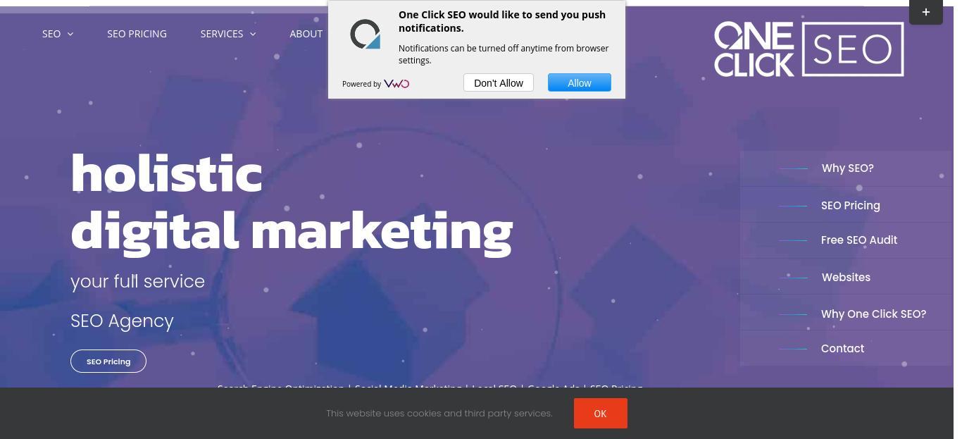 One Click SEO website