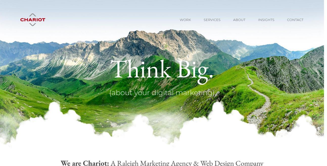Chariot Creative website