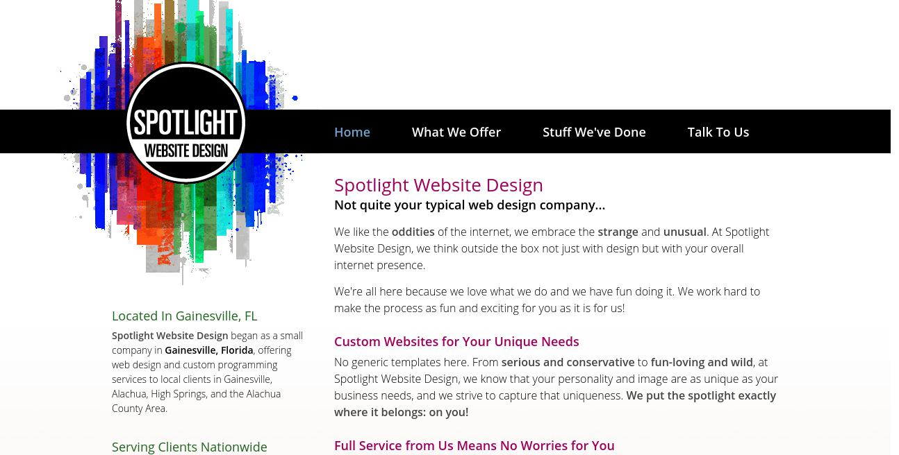 Spotlight Website Design website
