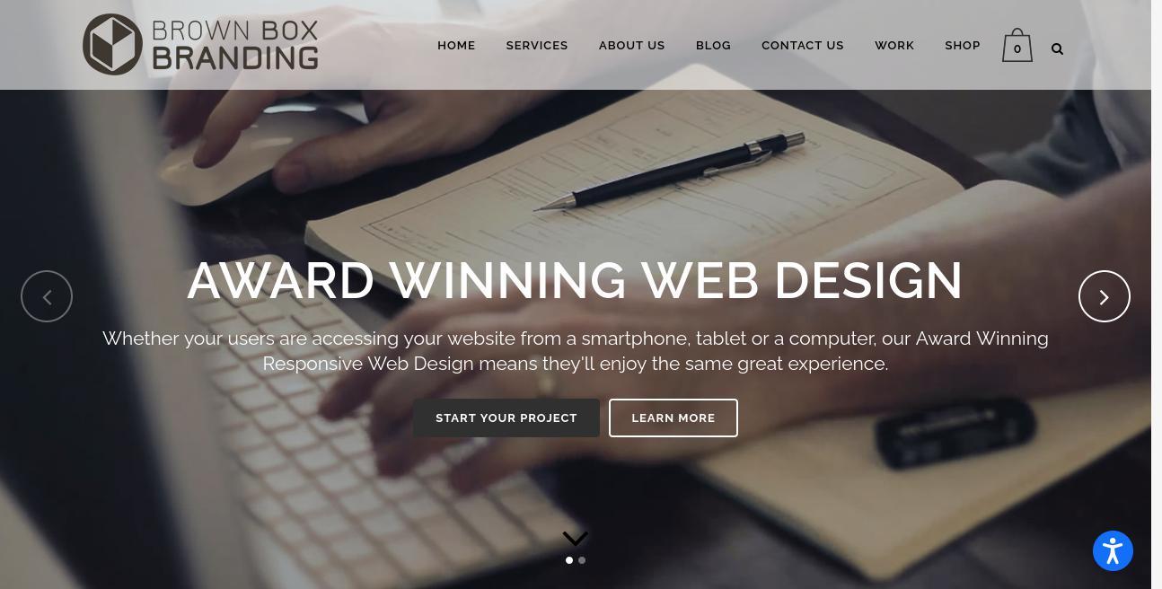 Brown Box Branding website