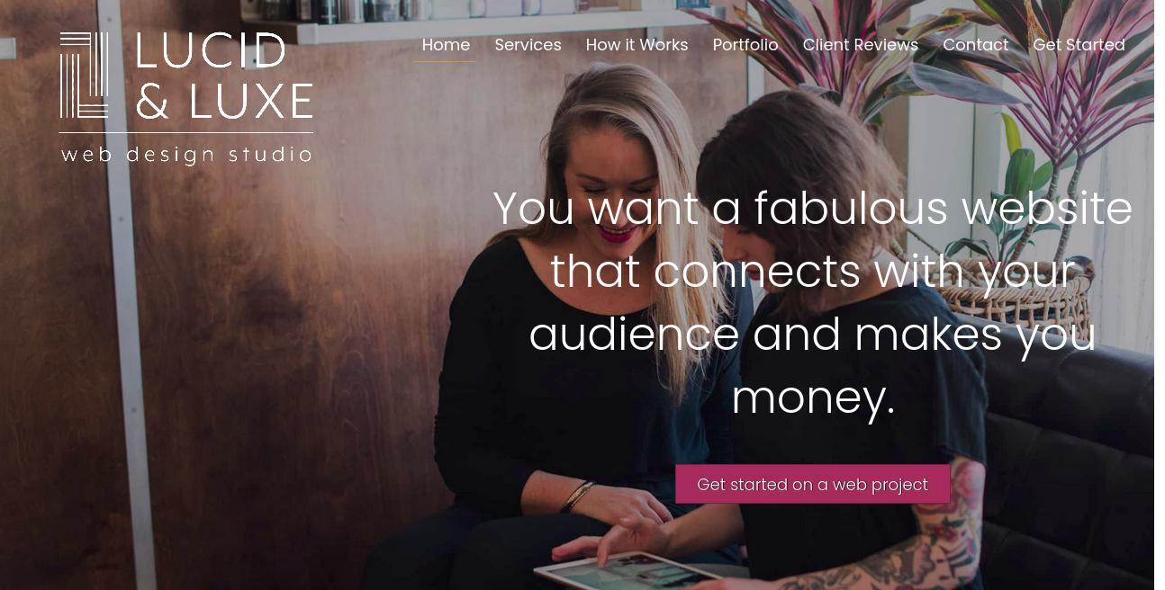 Lucid & Luxe Web Design Studio website