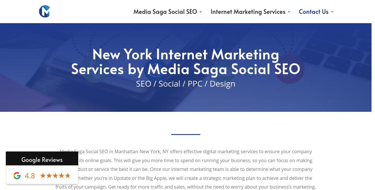Media Saga Social SEO website