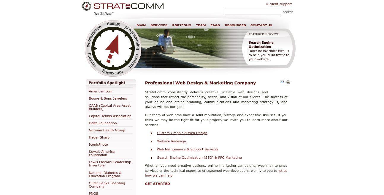 StrateComm website