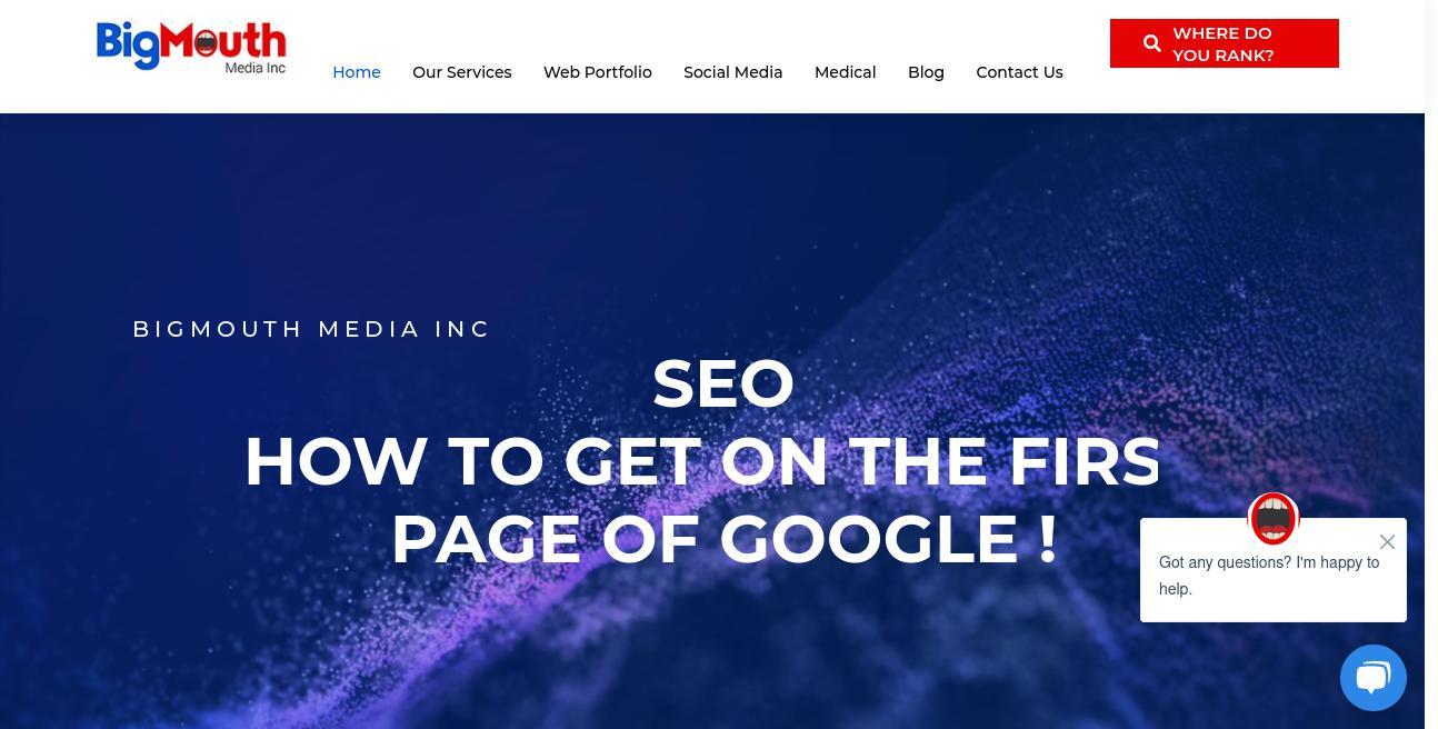 BigMouth Media website