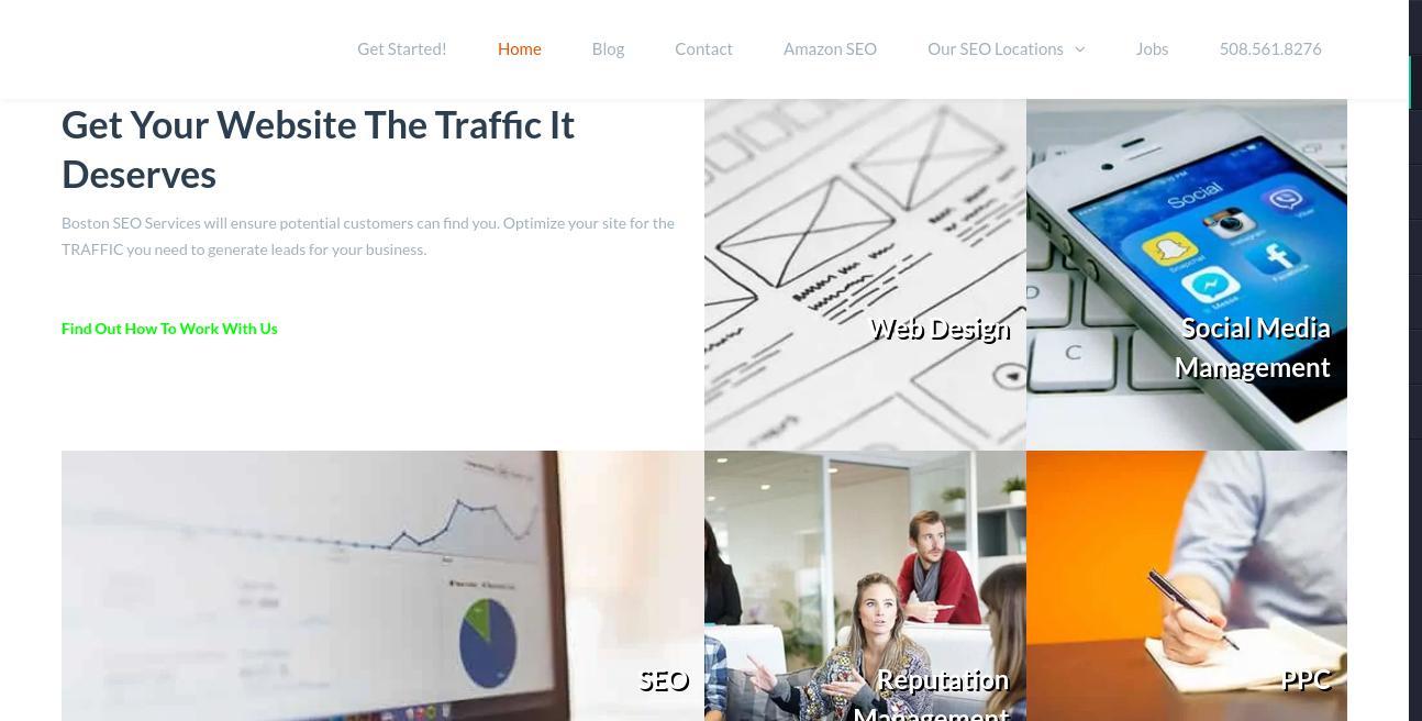 Boston SEO Services website
