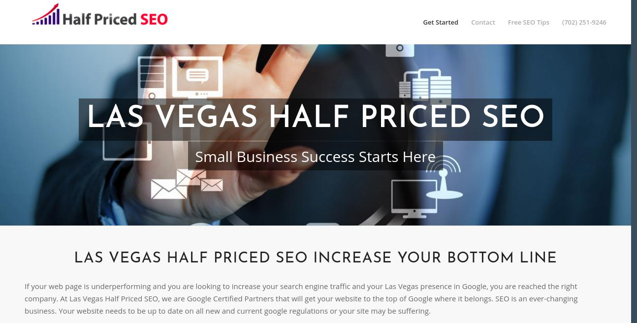 Half Priced SEO website