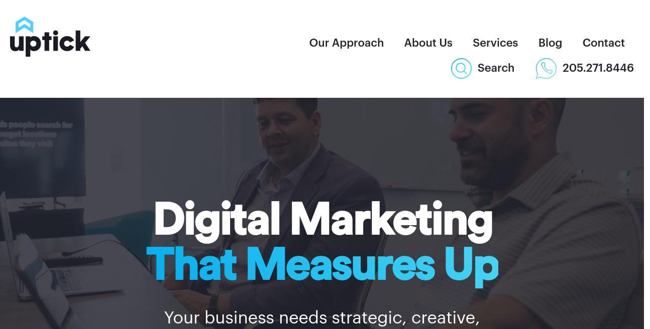 Uptick Marketing website