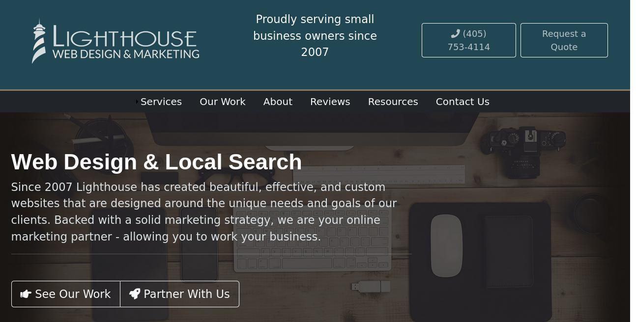 Lighthouse Web Design & Marketing website