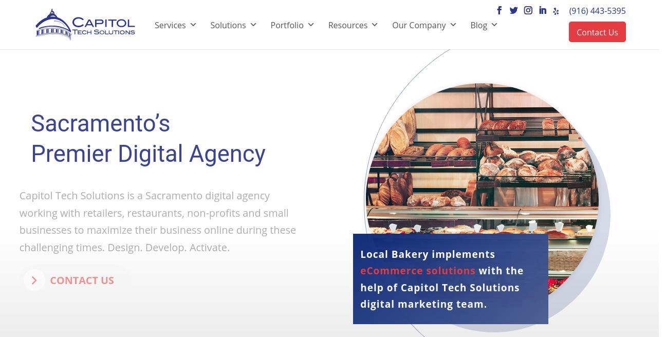 Capitol Tech Solutions website