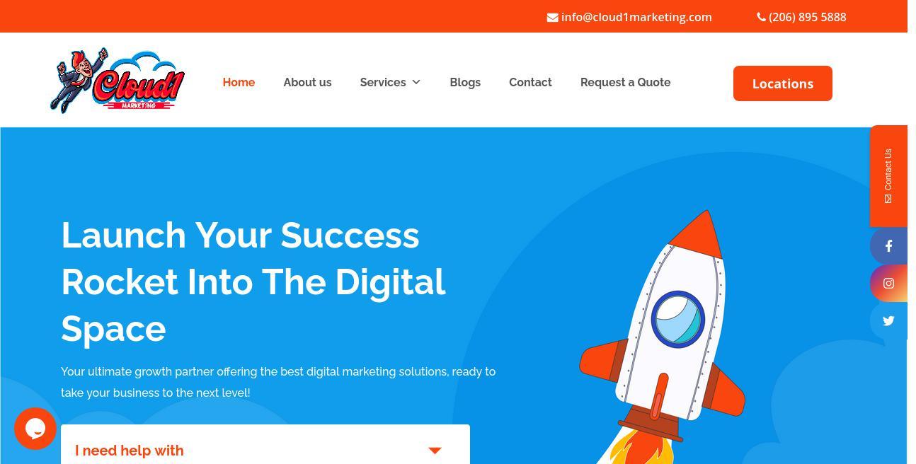Cloud1Marketing website