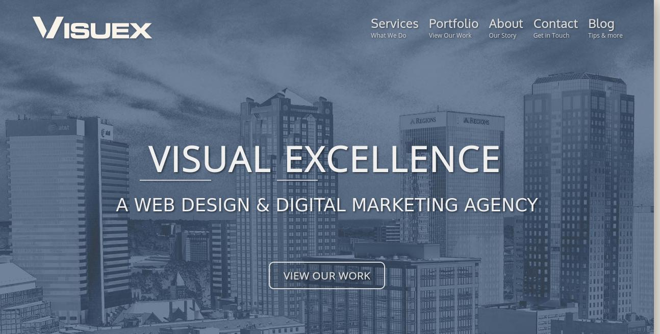 Visuex website