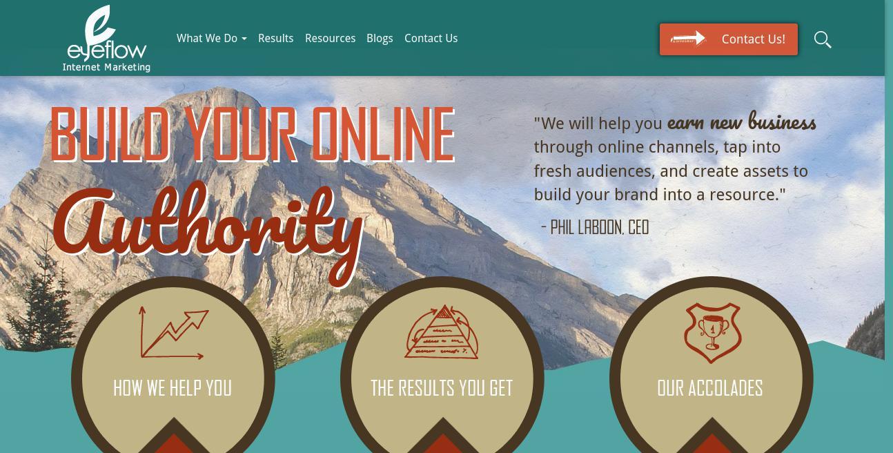 Eyeflow Internet Marketing website