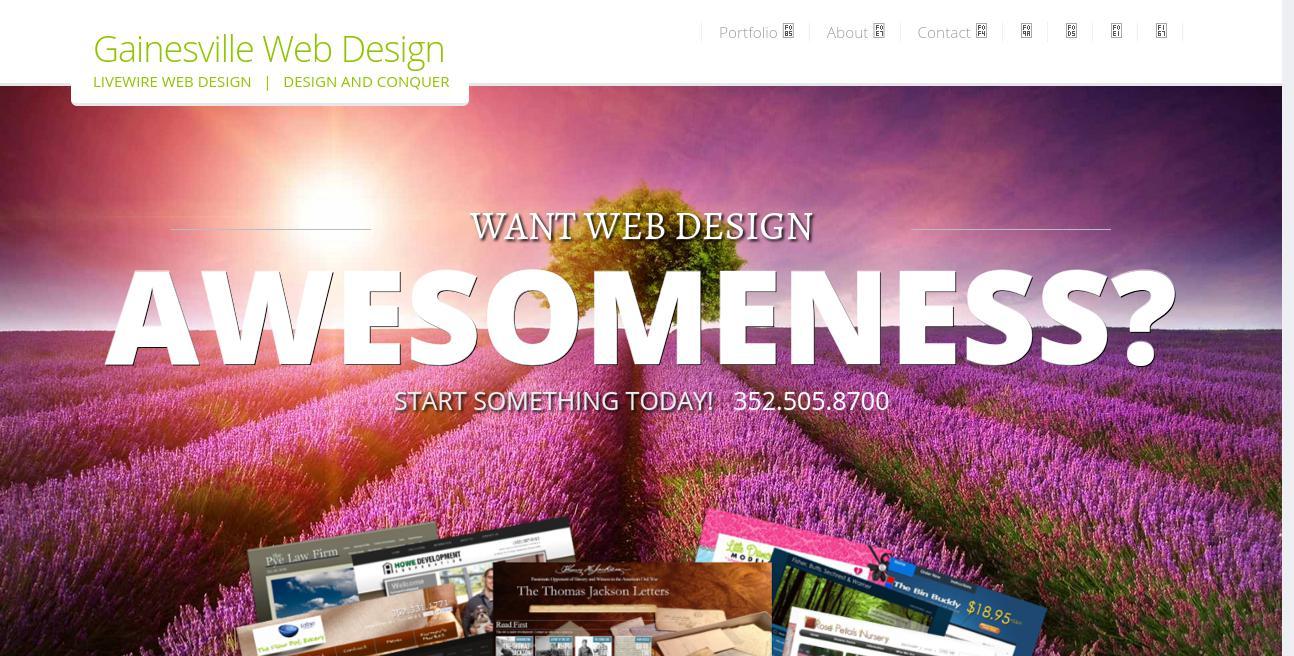 Livewire Web Design website