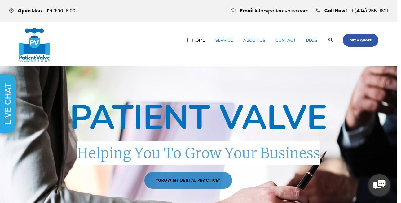 Patient Valve website