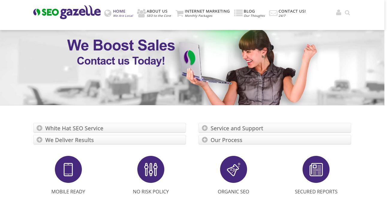 SEO Gazelle website