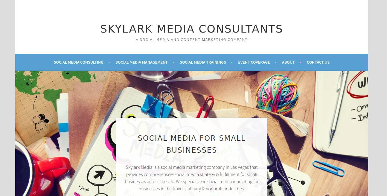 Skylark Media website