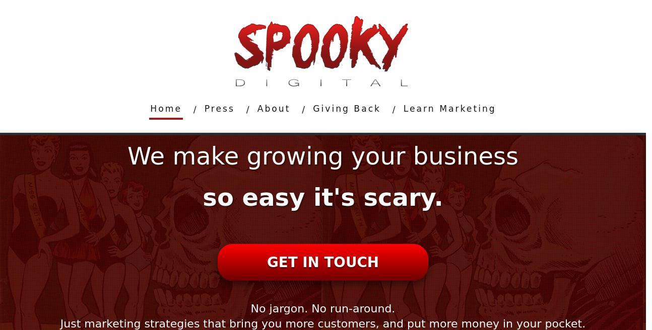 Spooky Digital website